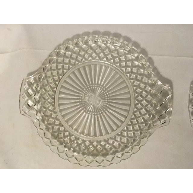 Clear Cut Glass Serving Trays - A Pair - Image 5 of 7