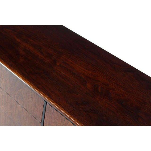 Mid-Century Danish Modern Walnut Long Dresser Credenza For Sale - Image 4 of 10