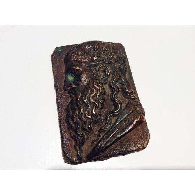 Antique Classical Cabinet Bronze Profile Portrait - Image 6 of 7