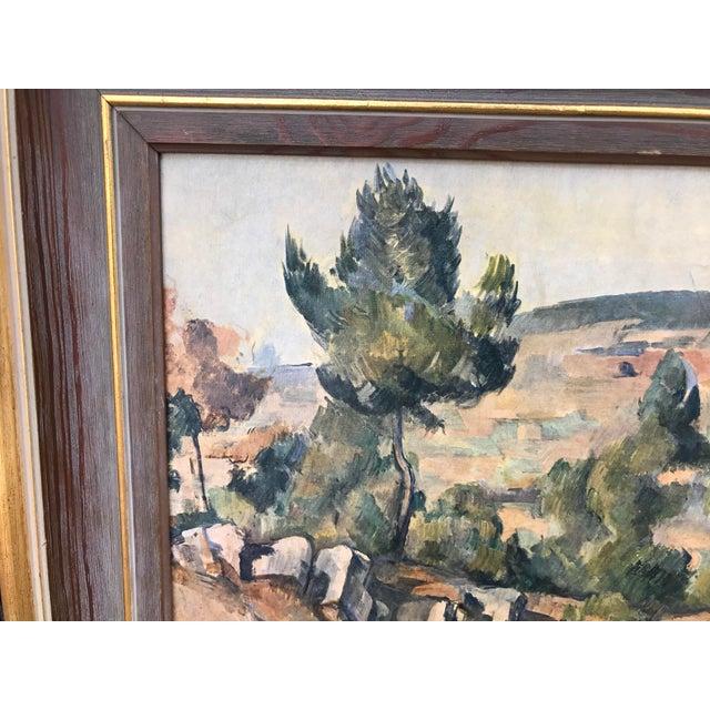Tuscan Vintage Italian Landscape Scene Print, Framed For Sale - Image 3 of 9