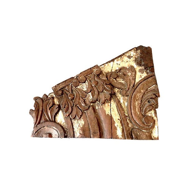 18th-C. Architectural Wood Wall Hanging For Sale - Image 5 of 7
