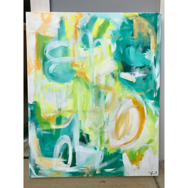 """""""El Yunque"""" original painting by abstract artist Christina Le Sesne Longoria. Original artwork completed in 2018, and..."""