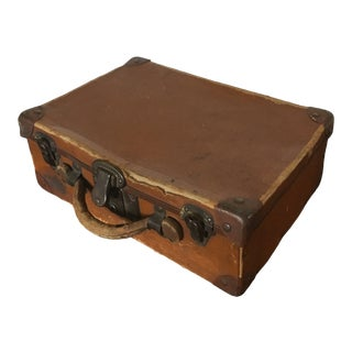 Small Early 20th Century Suitcase For Sale