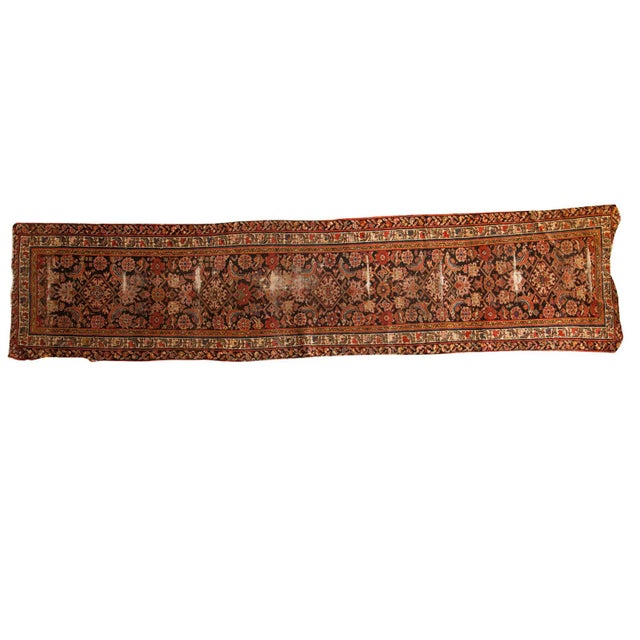 "Antique Distressed Rug Runner - 2'11"" X 12'8"" - Image 1 of 10"