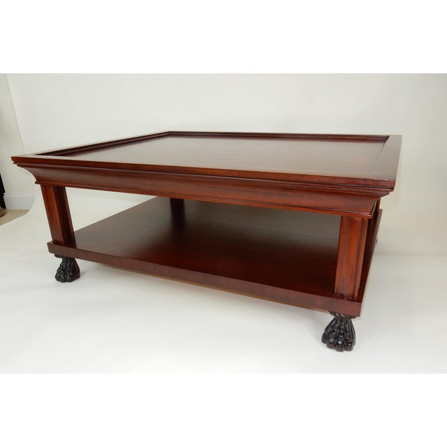 Traditional Two Tier Mahogany Coffee Table by Ralph Lauren 50 Inches For Sale - Image 6 of 13