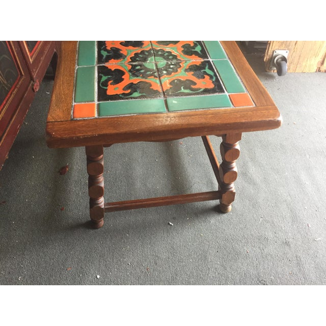 Calfornia Catalina Tile Top Table Mission For Sale In San Francisco - Image 6 of 8