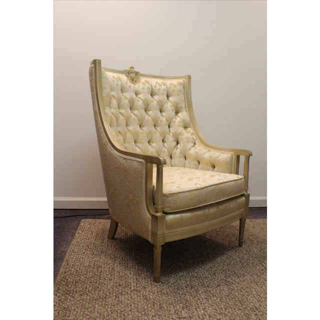 Louis XV French Bergere Tufted Back Chair - Image 2 of 11