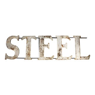 Vintage 'Steel' Sign For Sale