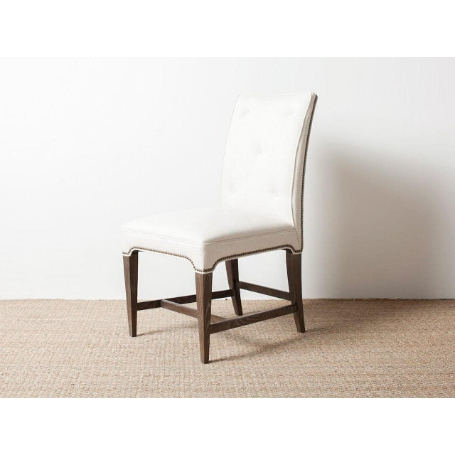 Claeys White Upholstered Chair For Sale - Image 6 of 6