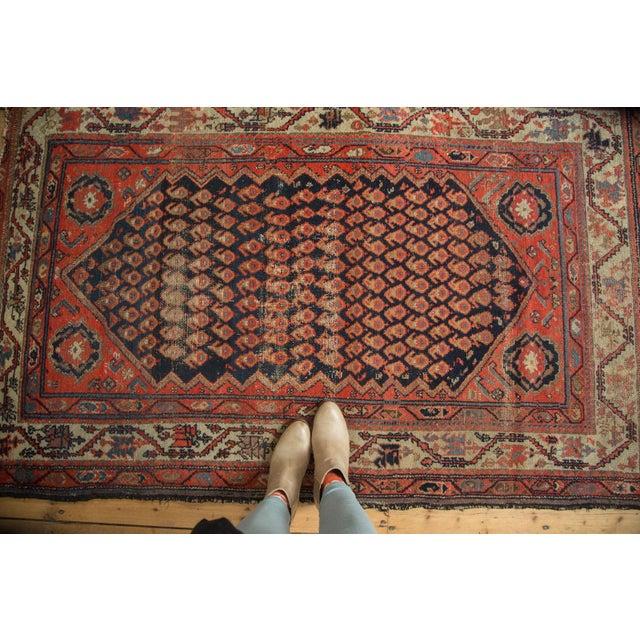 "Antique Hamadan Rug - 4' x 6'3"" - Image 2 of 11"