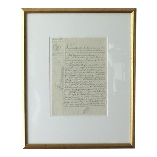 Antique French Winemaker's Document For Sale