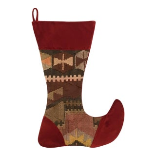 Large Kilim Christmas Stocking | Prancer