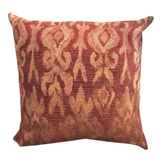 Terra and Gold Colored Woven and Velvet Pillow - 3 in Stock, Price for 1