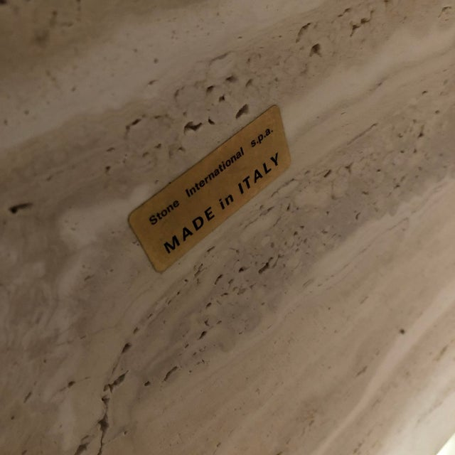 Stone 1970s Postmodern Travertine Coffee Table For Sale - Image 7 of 8
