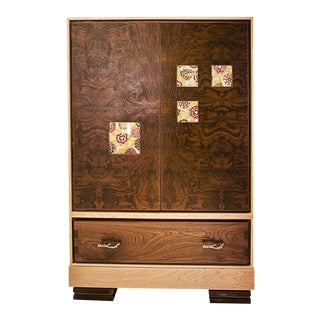 """Window"" Burl Wood Cabinet For Sale"