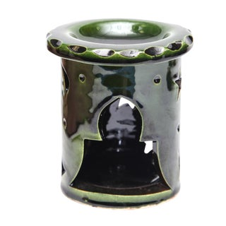 Atlas Emerald Green Candle Holder For Sale