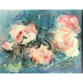 Abstract Original Painting on Paper of Romantic Roses