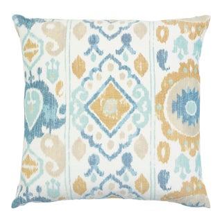 Schumacher Elizia Pillow in Blue & Ivory For Sale