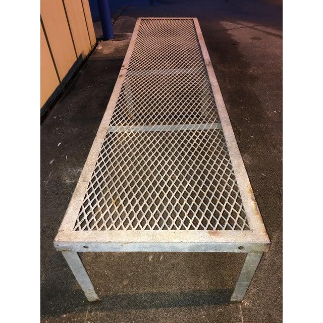 Vintage Metal Locker Room Gym Bench | Chairish