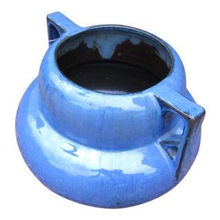 Antique Arts & Crafts Blue Fulper Art Pottery Vase For Sale