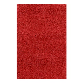 SHAG RUG SOLID RED 2'8''x 5'