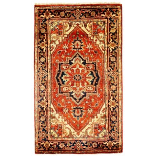 """Traditional Pasargad Ny Serapi Design Hand-Knotted Rug - 3'1"""" X 5'3"""" For Sale"""