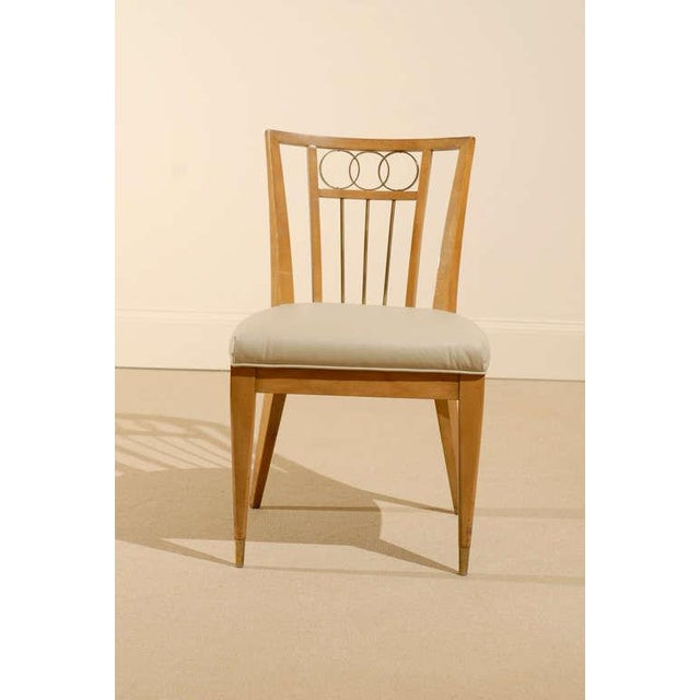 1950s Set of Four (4) Chairs in the Style of Michael Taylor For Sale - Image 5 of 11
