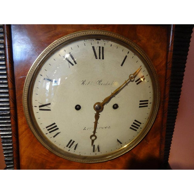 Brown Regency Period Musical Clock Attributed to Bullock For Sale - Image 8 of 10