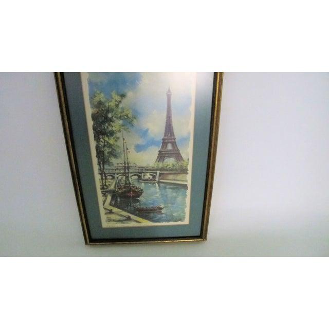 French Vintage Paris Summer Framed Print For Sale - Image 3 of 3