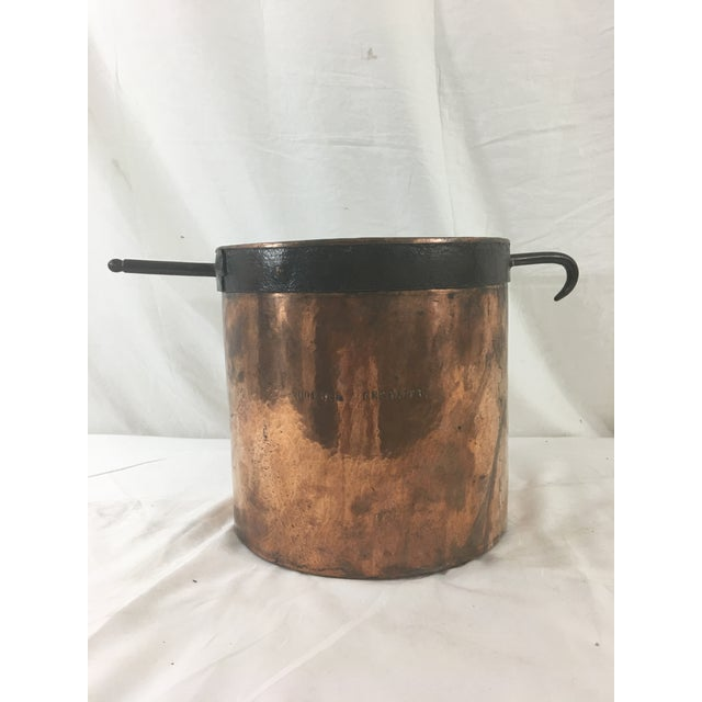 19th Century Copper Boiling Pot For Sale - Image 4 of 11