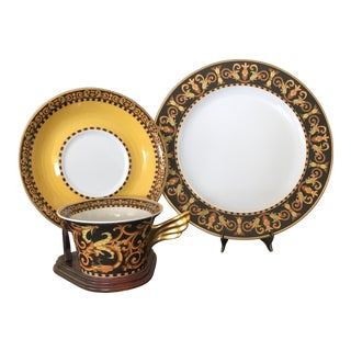 Versace Rosenthal Barocco Design Place Setting - Set of 3 For Sale
