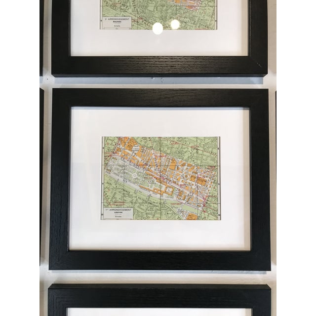 French Paris World Exposition Tourist Map of the Arrondissements Set of 25 For Sale - Image 3 of 5