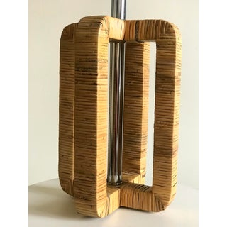 1970s Vintage Rattan Wrapped Table Lamp Preview