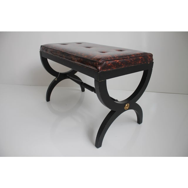 Charlotte Michigan Company Black & Brass Bench - Image 2 of 10