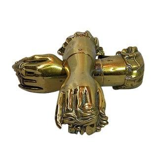 Antique English Victorian Hand Tiebacks - A Pair