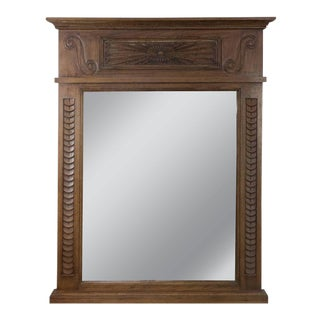 Late 19th Century French Mantel Mirror With Carved Wooden Frame