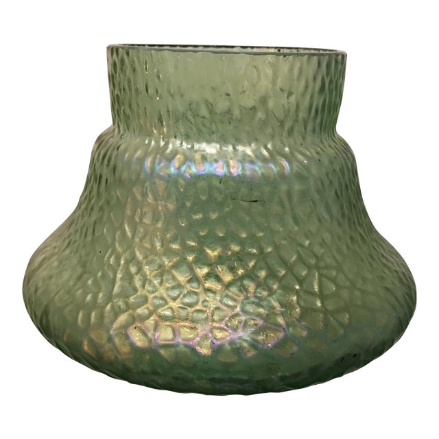 Kralik Sohn Martelle Pattern Art Glass Vase For Sale
