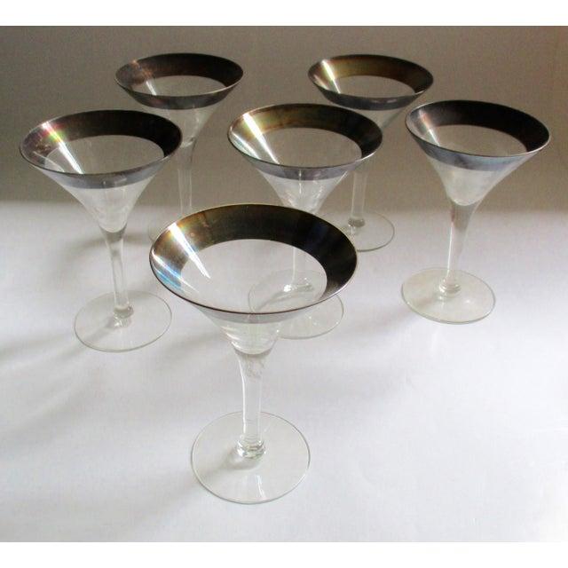 Dorothy Thorpe Silver Rim Champagne Glasses - Set of 6 - Image 4 of 10