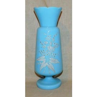 Late 19th Century Bristol Blue Milk Glass Vase Preview