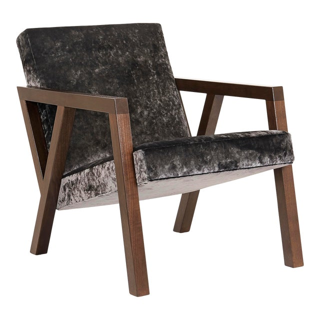 Modern Walnut Moda Chair For Sale