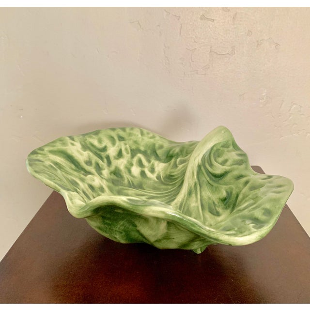 Use it as a decoration or to serve your favorite side dishes, this trendy cabbage leaf design bowl is fun and practical....