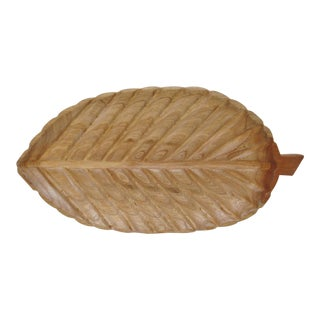 Oversized Ash Wood Tray For Sale