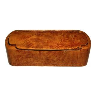 19th Century Burl Birch Snuff Box For Sale