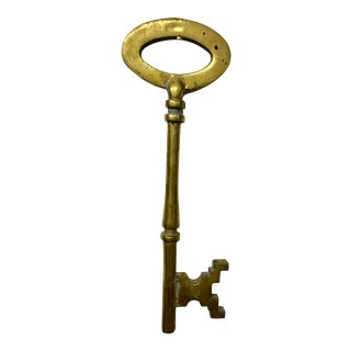 Vintage English Brass Key For Sale