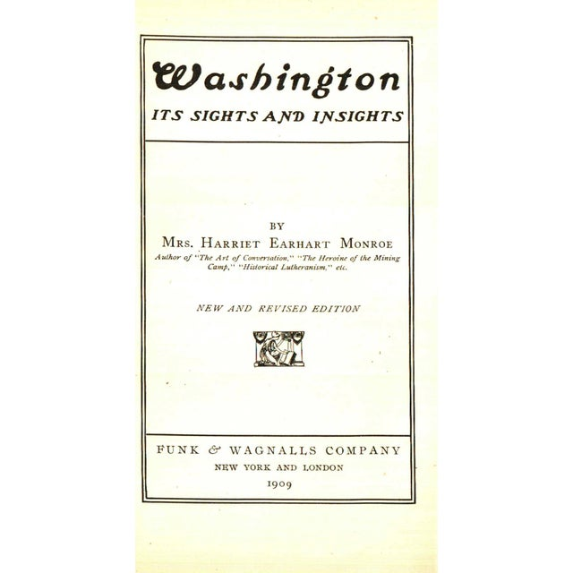 """Booth & Williams 1909 """"Washington: Its Sights and Insights"""" Collectible Book For Sale - Image 4 of 5"""