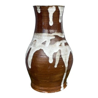 Mid Century Drippy Pottery Vase