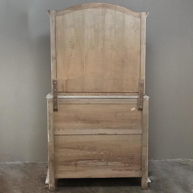 Rustic Antique Country French Whitewashed Secretary ~ Bookcase For Sale - Image 12 of 13