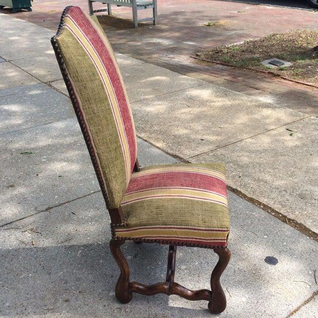Oak Framed Oz de Mouton Upholstered Side Chair - Image 5 of 6