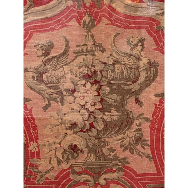 Mid 20th Century Vintage French Framed Fabric For Sale - Image 5 of 7