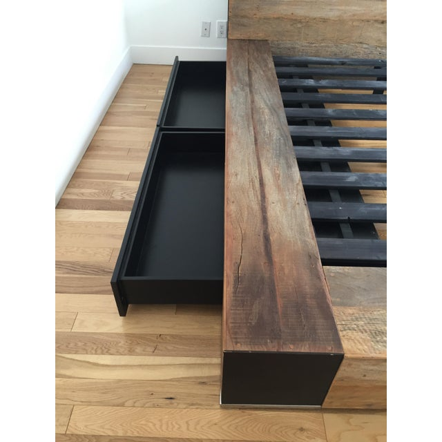 Environment Furniture Reclaimed Wood Edge Bed - Image 4 of 4